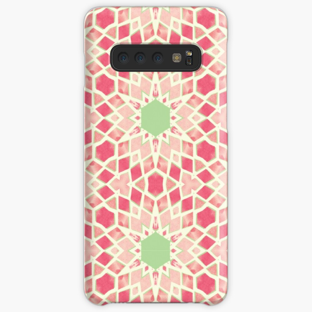 Pink & Green Mosaic Pattern Samsung Galaxy Snap Case