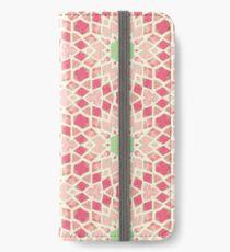 Pink & Green Mosaic Pattern iPhone Wallet/Case/Skin