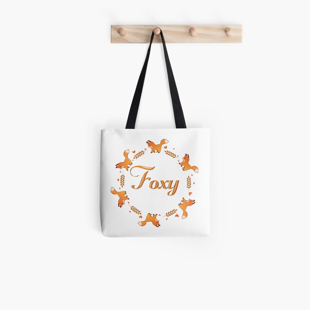 Cute Foxy Fox Wreath Tote Bag