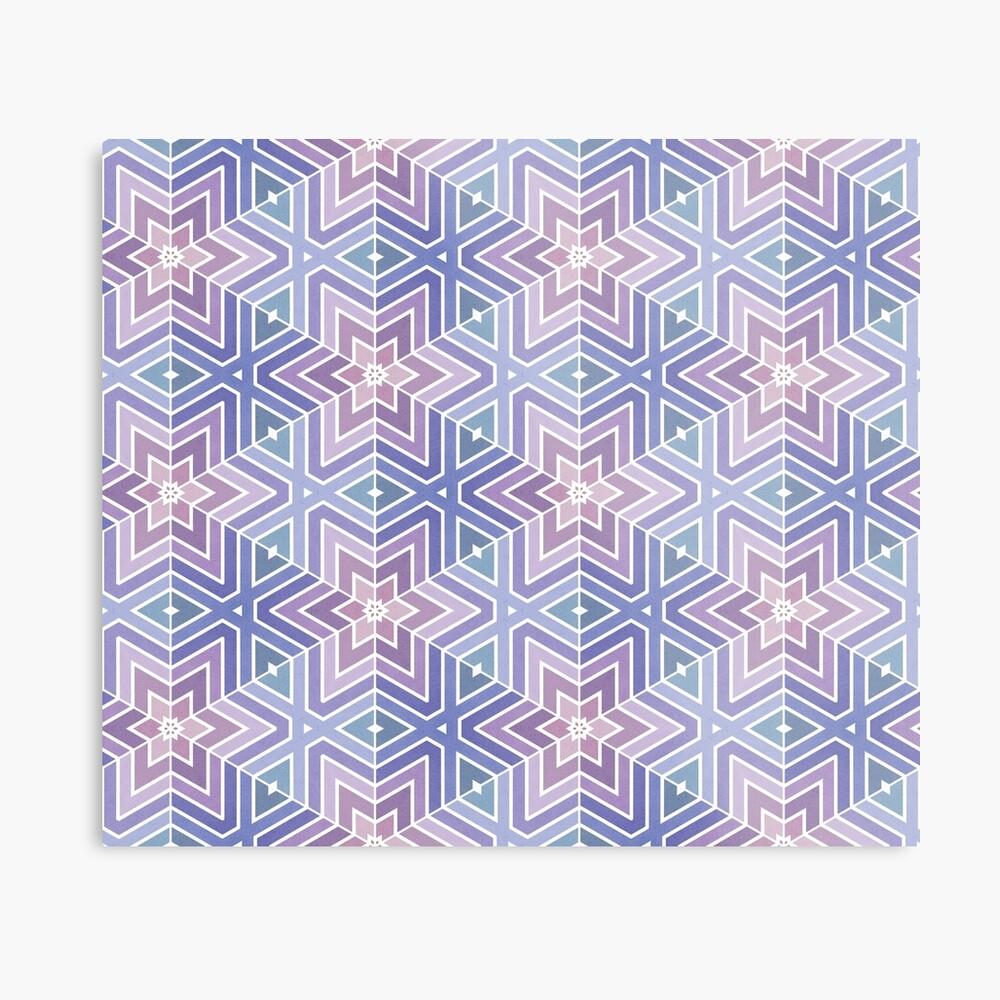 Geometric Star Maze Pattern Metal Print