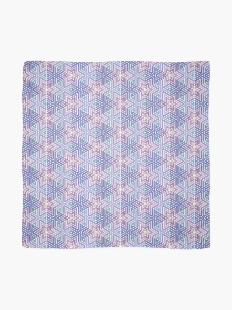 Alternate view of Geometric Star Maze Pattern Scarf