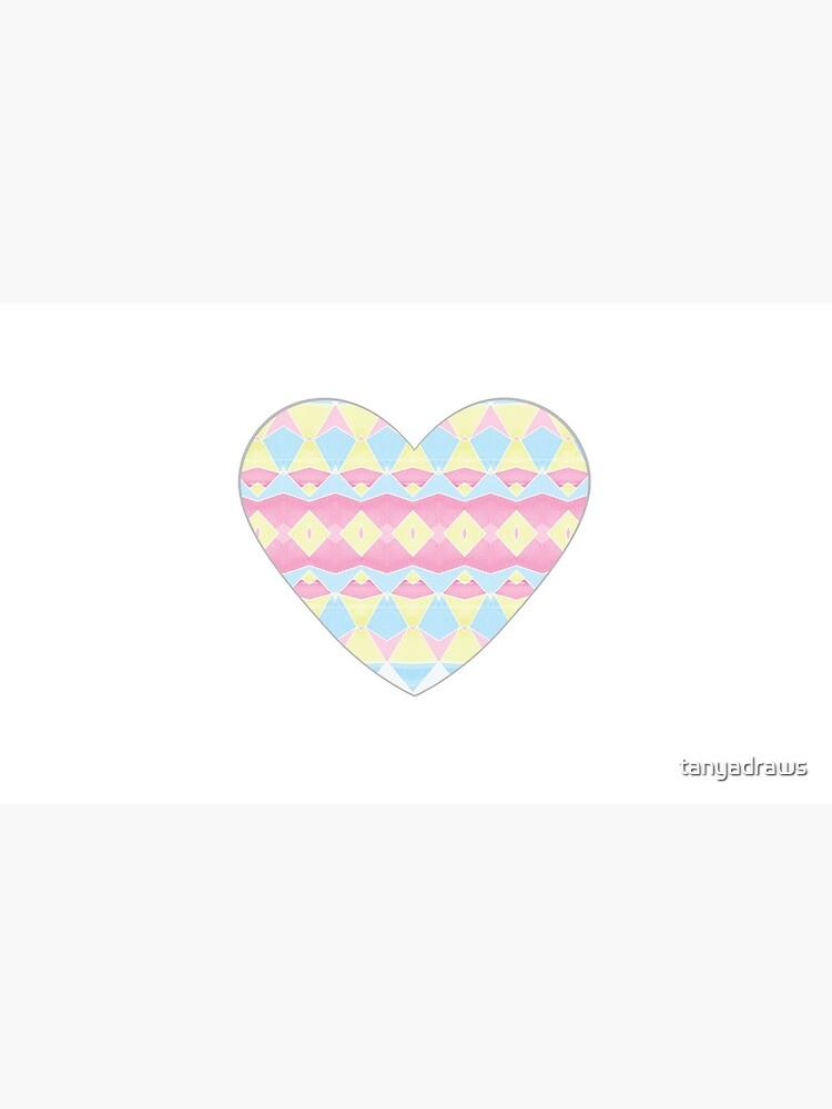 Geometric Pastel Watercolour Pattern by tanyadraws