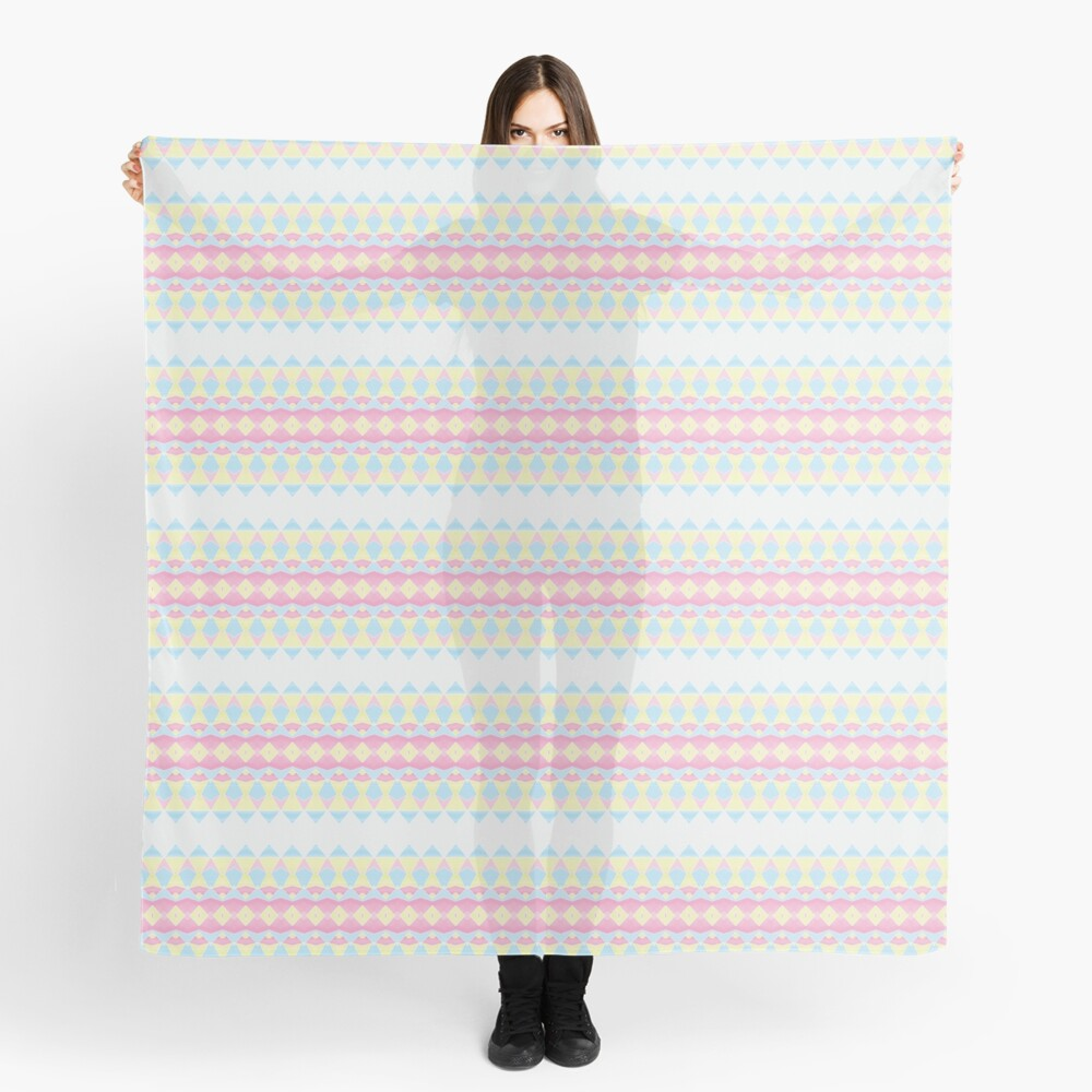 Geometric Pastel Watercolour Pattern Scarf