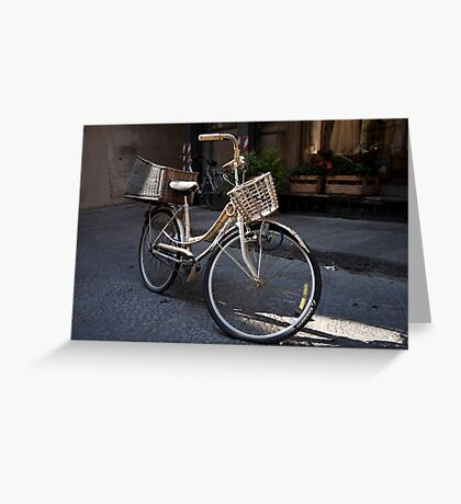 cityscapes #178, bike baskets   Greeting Card