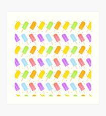 Tasty Summer Watercolour Popsicle Pattern Art Print