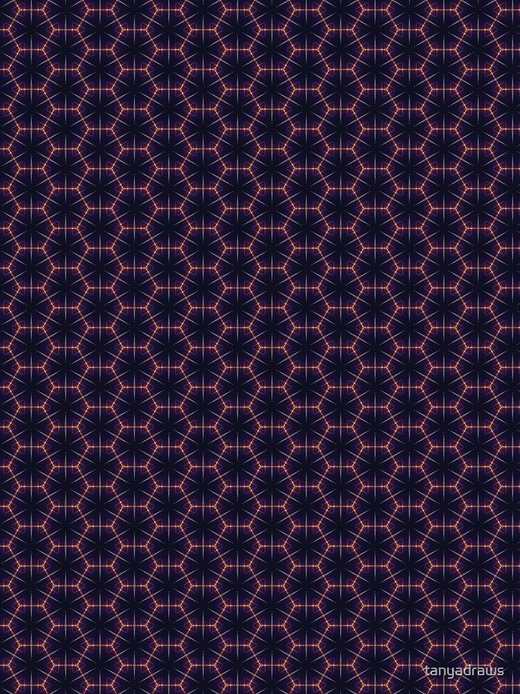 Skyline Kaleidoscope Hexagon Pattern by tanyadraws