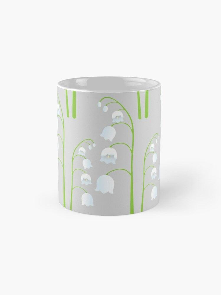 Alternate view of White Digital Lily of the Valley Floral Pattern Mug