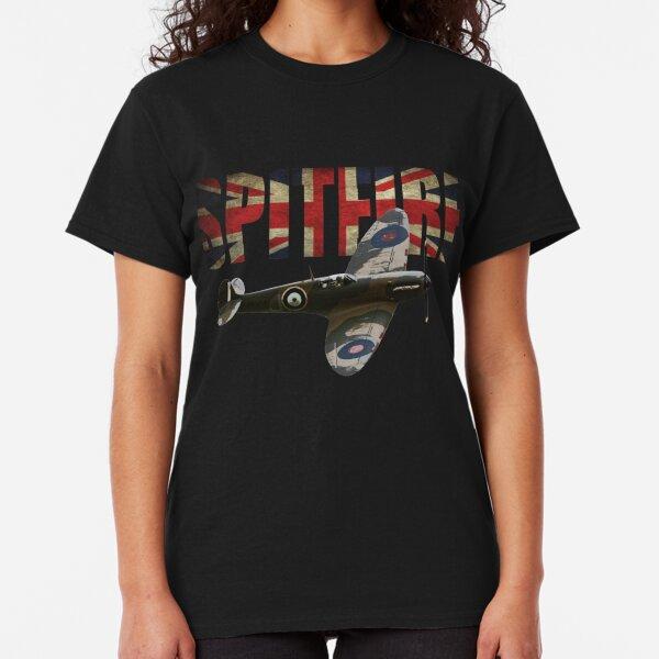 RAF Supermarine Spitfire T shirt ww2 Fighter Classic T-Shirt