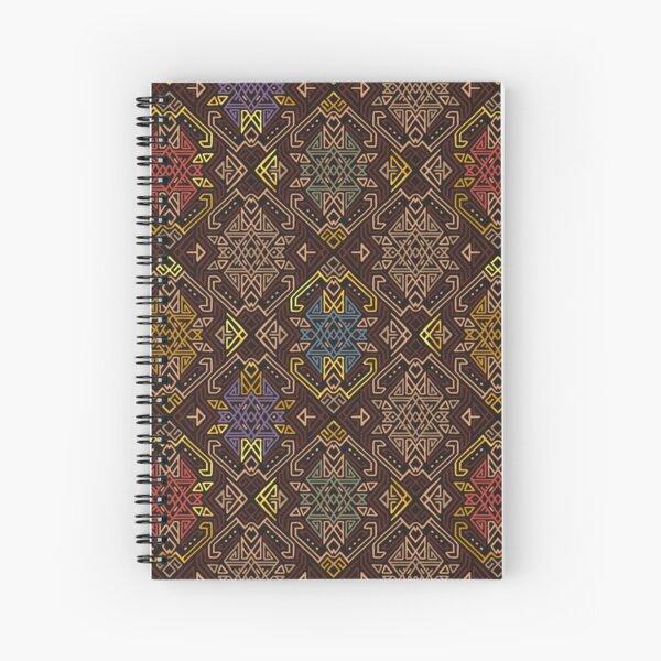 Autumn Tribal Pattern #4 Spiral Notebook