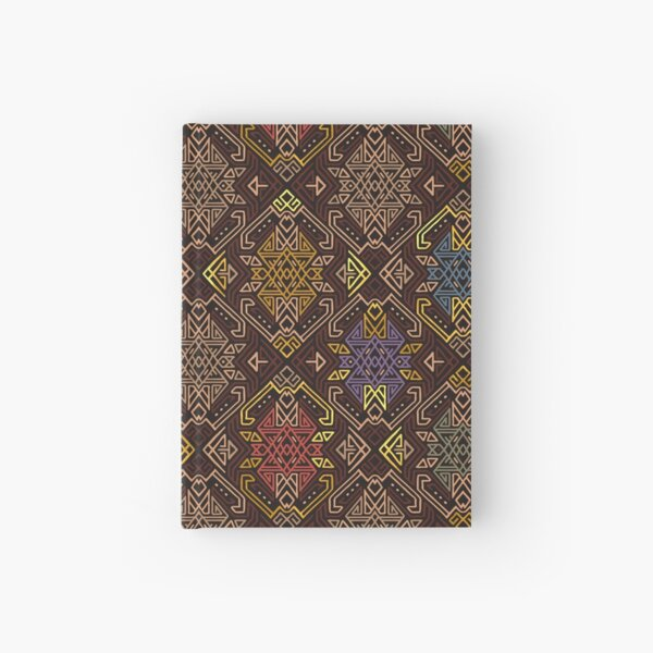 Autumn Tribal Pattern #4 Hardcover Journal