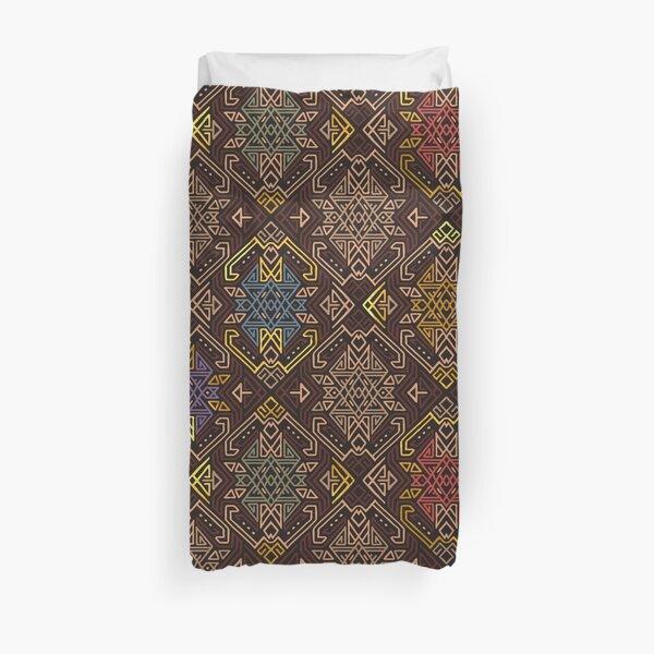 Autumn Tribal Pattern #4 Duvet Cover