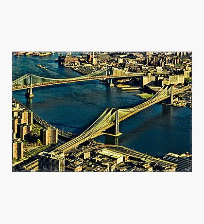 The Bridges and The East River, New York, USA Photographic Print