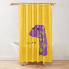 Motivational Lizard Shower Curtain