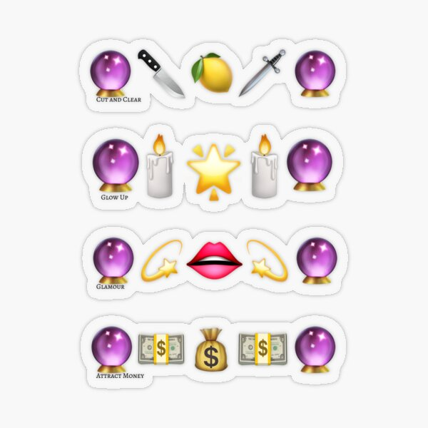 """Get It"" Emoji  Spell Set (USA) Transparent Sticker"