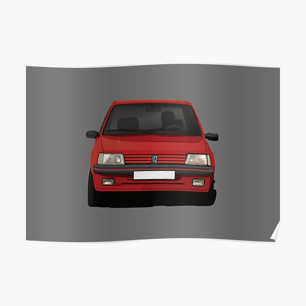 Peugeot 205 GTi rouge trappe chaude trappe Poster