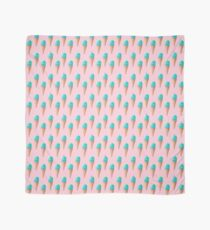 Blue Ice Cream Pattern - Pink Scarf