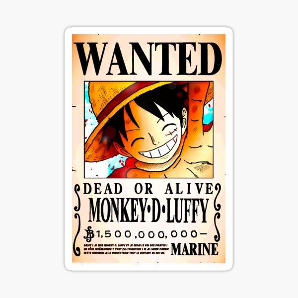 Wanted Poster - Monkey D. Luffy 1.5 Billion Berrys - One Piece Sticker