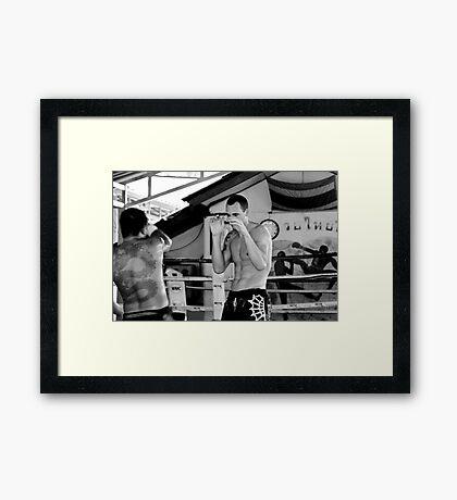 Thai Boxing Framed Print