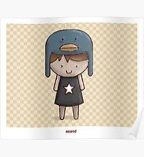 Emo Kawaii Girl Poster