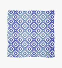 Navy Blue Ikat Pattern Scarf