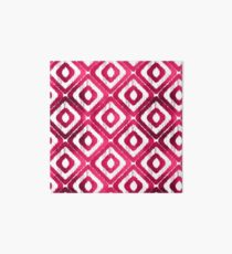 Ruby Red Ikat Pattern Art Board Print