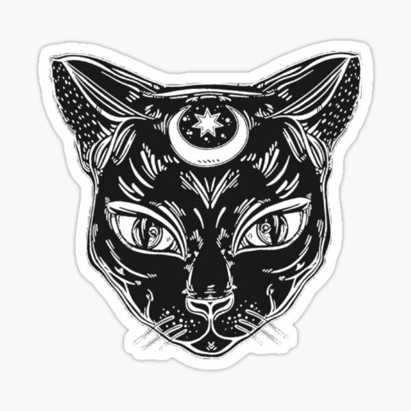 Witchy cat  Sticker