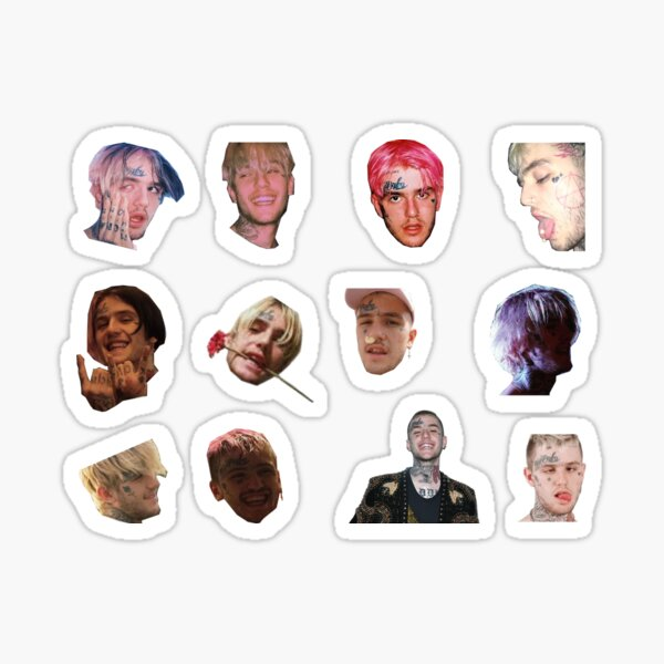 Lil Peep cutest faces Sticker