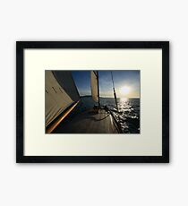 Cirrus in Portland Harbour Framed Print