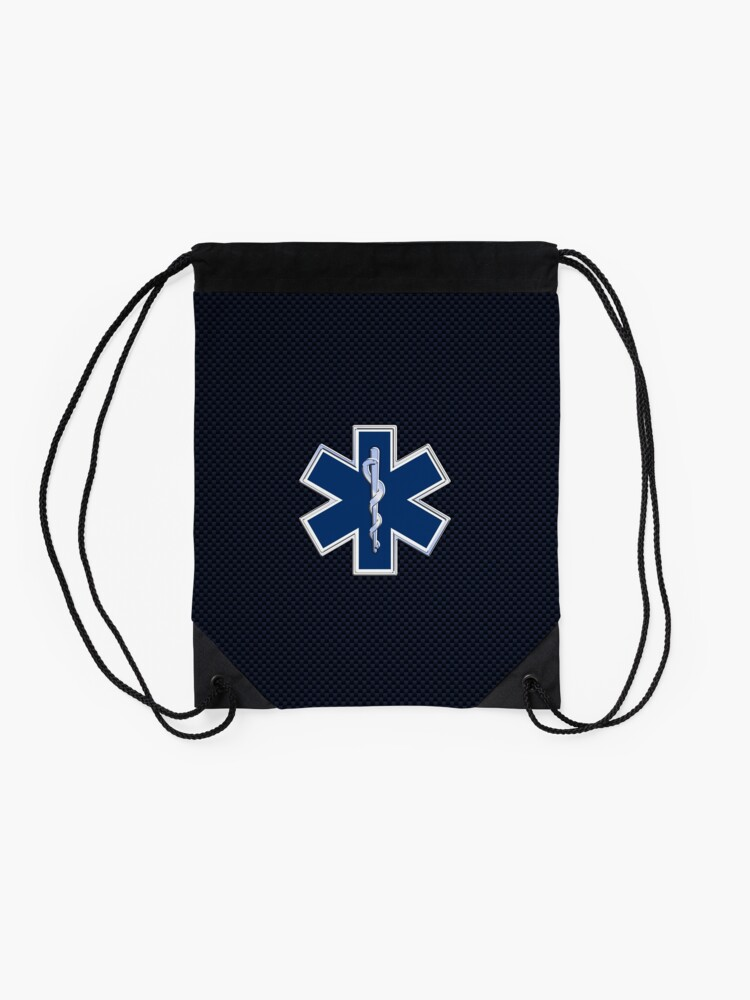 Alternate view of Paramedic Star of Life Drawstring Bag