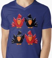 Four Little Birdies  Mens V-Neck T-Shirt