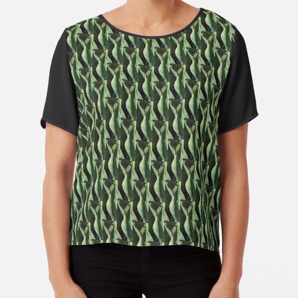 Agave Plant Leaf Design Chiffon Top