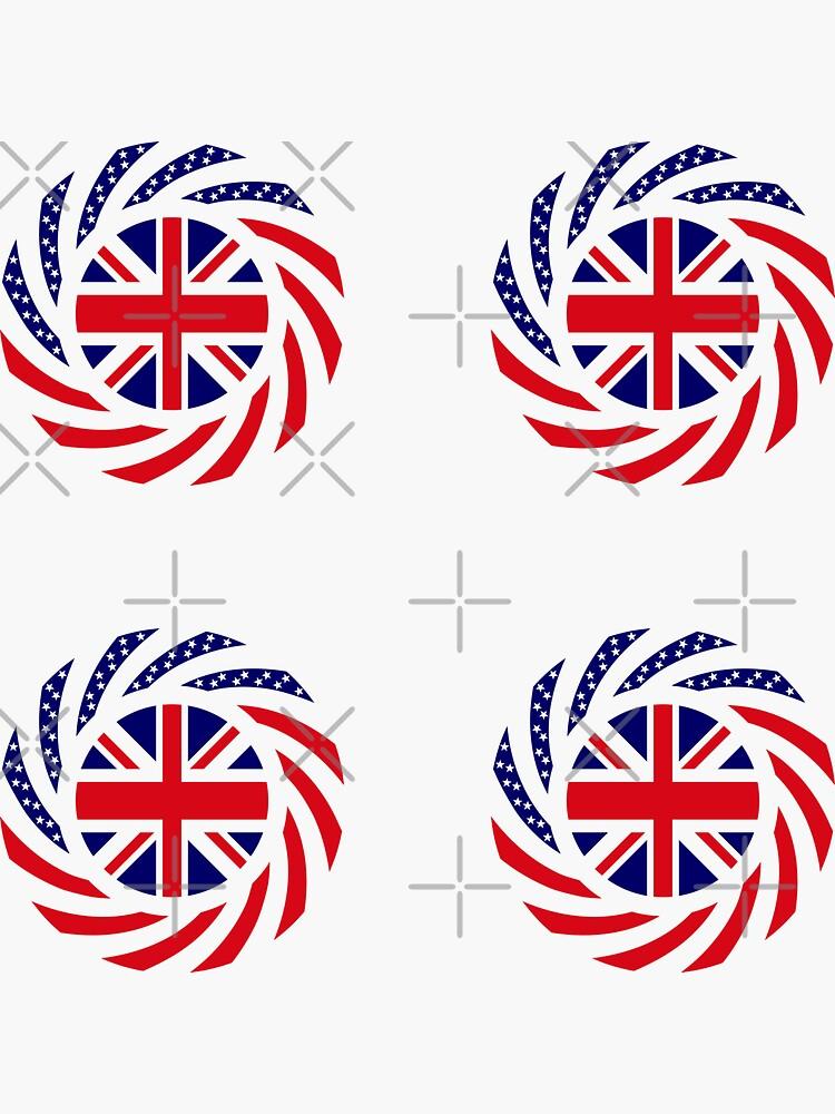 British American Multinational Patriot Flag Series by carbonfibreme