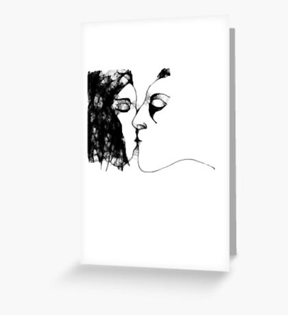 the kiss 2 -(120111)- the scribber computer program Greeting Card