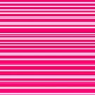Bright hot and pale pink horizontal linework by cesarpadilla