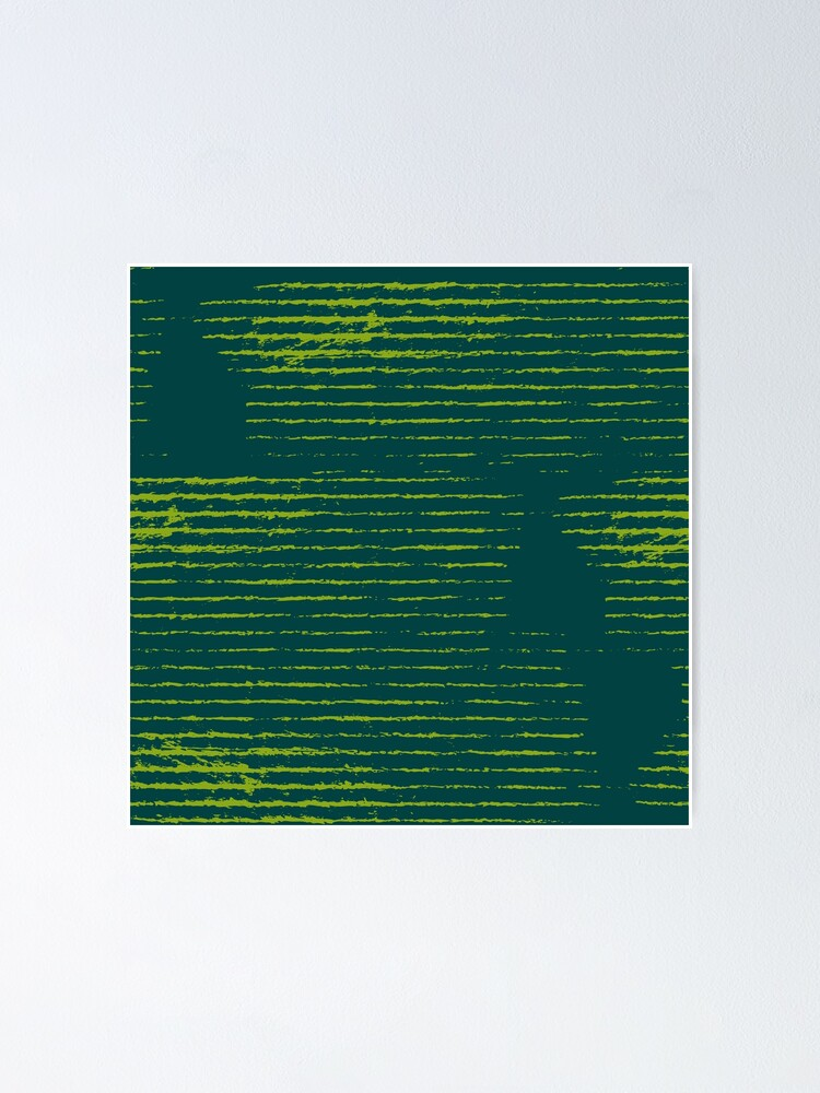 Alternate view of Emerald green grungy stripes Poster
