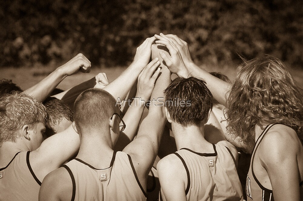 """""""Team"""" - athletes pulling together as a team by ArtThatSmiles"""