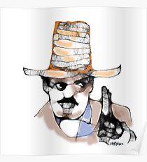 Scribbler Cowboy Poster