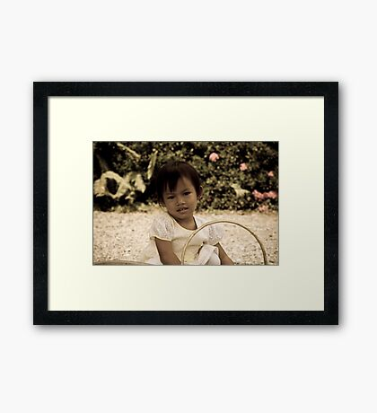 Helping Mum Framed Print