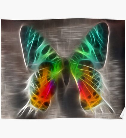 fractalius butterfly Poster