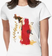 woman in red Womens Fitted T-Shirt