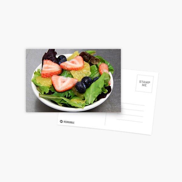 Gourmet Salad w/ Fruit Postcard