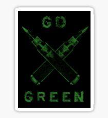 Go Green Sticker Sticker