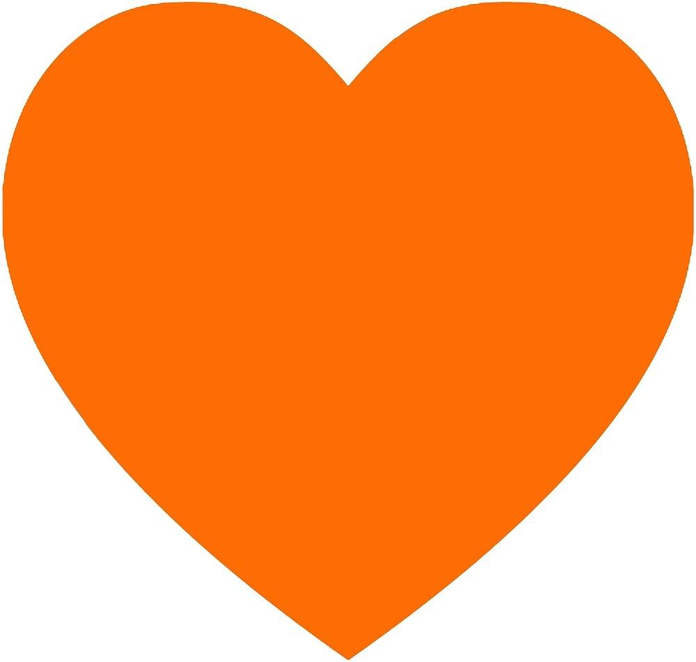 Orange heart by rachelshade