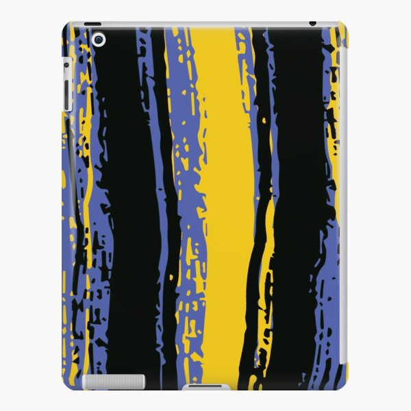 Blue, Black & Yellow Stripes iPad Snap Case