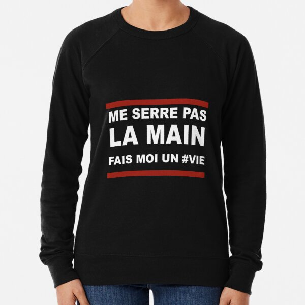 Damso Life quote Mosaic solitaire - red and black Lightweight Sweatshirt