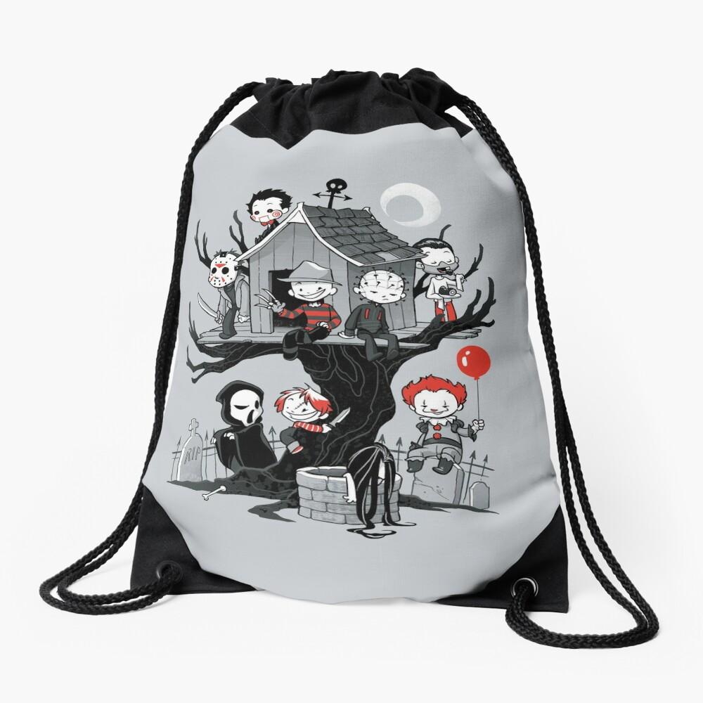 Horror House Drawstring Bag
