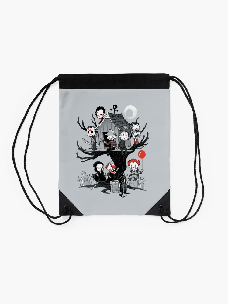 Alternate view of Horror House Drawstring Bag