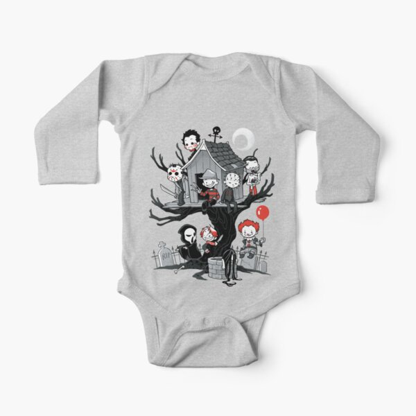Horror House Long Sleeve Baby One-Piece