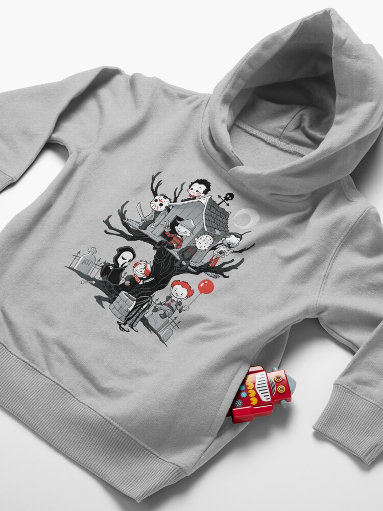 Alternate view of Horror House Toddler Pullover Hoodie
