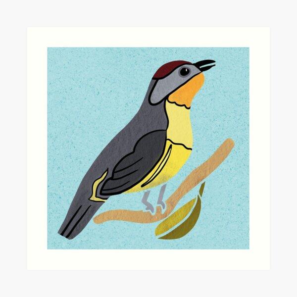 Yellow Bird Nashville Warbler Songbird 1 of 9 Art Print